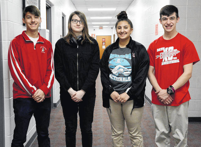 From left, Noah Phillips, Saharra Young, Josie Shauf and Anthony Lutz.