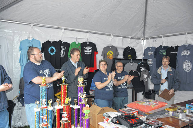 Awards are presented during a past year's tournament.