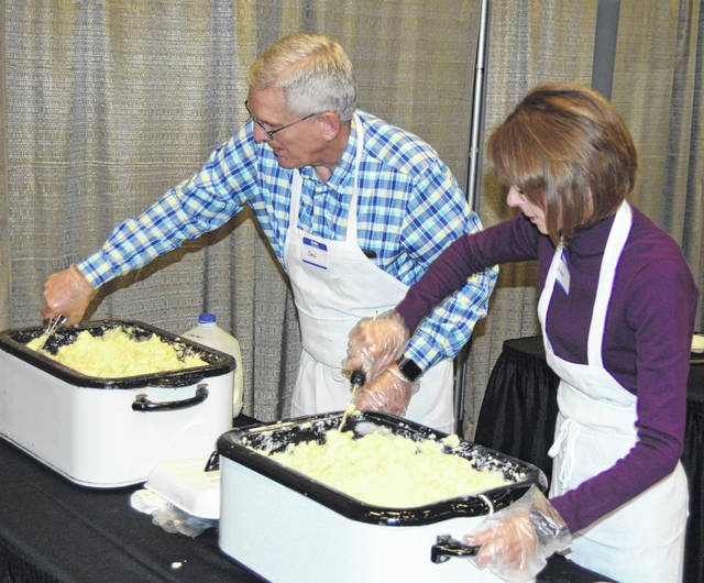 Don and Ann Leader have been serving mashed potatoes at the annual Easter dinner for more than 20 years.