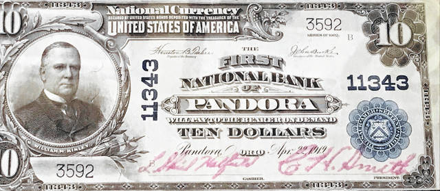 First National Bank's original bank notes included the bank's name.