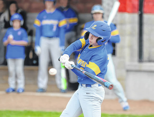 Landon Price bats for Lincolnview during Thursday's game at Columbus Grove.