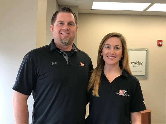 Corey and Amanda Henson, of EZ Concrete Supply