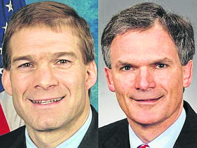 U.S. Reps. Jim Jordan, R-Urbana, left, and Bob Latta, R-Bowling Green, right.