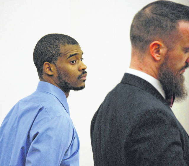 A mistrial was declared Tuesday in the jury trial of Jarvis Killingsworth, 22, of Chicago, who was charged in Allen County Common Pleas Court with robbing a Lima apartment manager and his wife at gunpoint earlier this year. He is pictured with his attorney, Carroll Creighton.