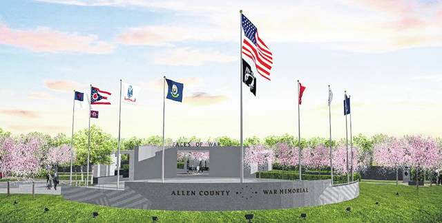 A design for an Allen County War Memorial was unveiled Saturday.