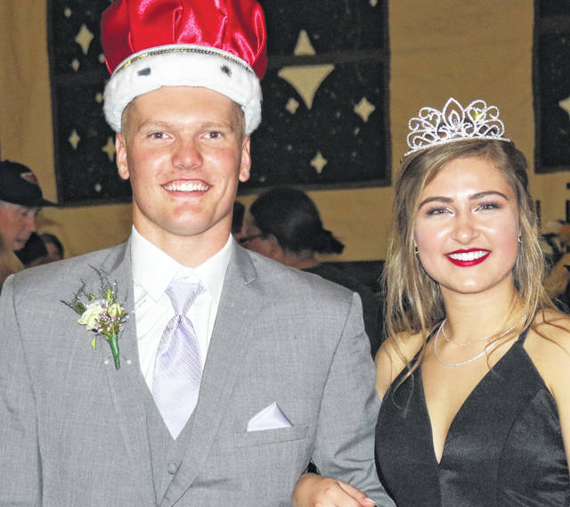 New Bremen High School held its prom recently. Pictured are King Grant Selby and Queen Rylie Schafer.