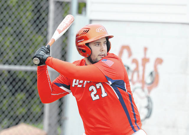 Perry's Cameron Patrick at bat against Delphos Jefferson during Wednesday's game in Delphos.