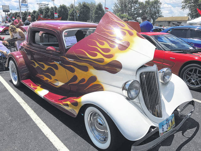 Donna Michael, of Lima, has owned this 1934 Ford 3 Window Coupe for four years.