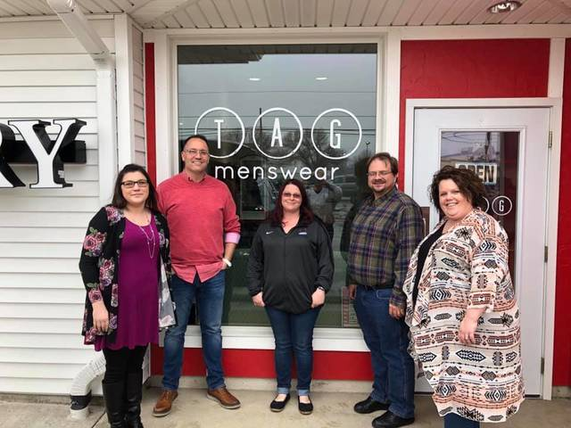 From left: Christy Thees, Marsh program manager; Tim Slusher, TAG owner; MacKenzie Basil, Marsh program manager; Marcus Boatman, Marsh consultant; and Megan Tuttle, Marsh director of residential services. Photo submitted.