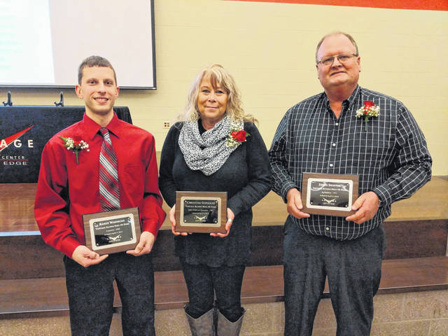 Randy Warnecke, Christina Gonzales, and James Shaffer, 2019 Vantage Alumni Hall of Fame inductees.