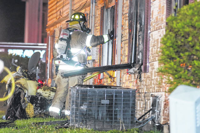 The Lima Fire Department responded to a fire at the Vineyard Apartments late Saturday in Lima.