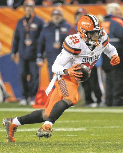 Browns running back Duke Johnson may be part of a package to allow Cleveland to move up in the draft.