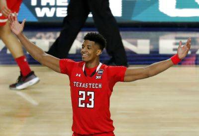 Texas Tech's Jarrett Culver (23) celebrates after the Red Raiders defeated Michigan State 61-51 in a NCAA Tournament semifinal Saturday in Minneapolis. (AP photo)