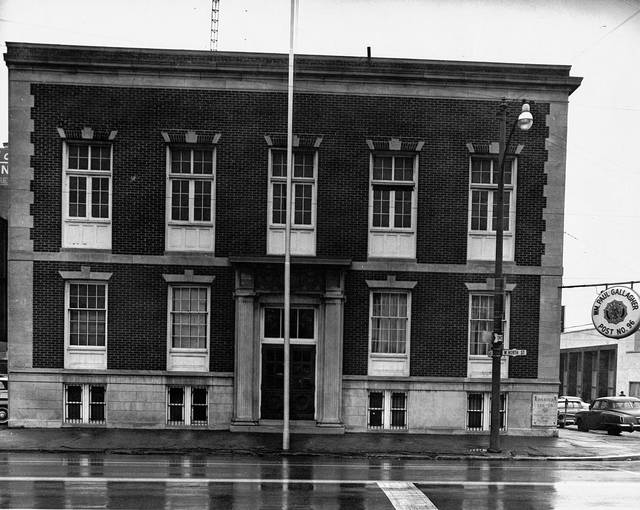 The William Paul Gallagher American Legion Post is pictured in this undated photo on West North Street. It was on the opposite corner of where the Elks stands at North and West streets.