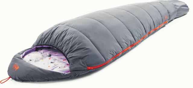 REI's Kindercone sleeping bag is temperature-rated to 25 degrees. An anti-snag zipper, lightweight synthetic insulation and adjustable size make it a good option for little ones to grow into.