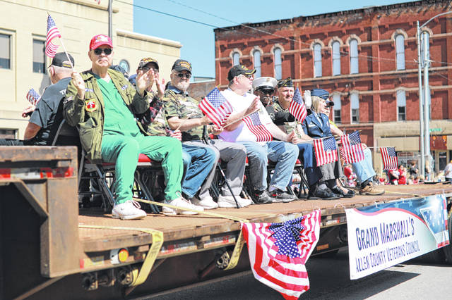 The Allen County Veterans Council's Grand Marshall's float.