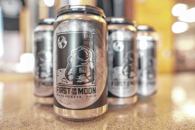 Six-packs of First on the Moon Pale Ale are expected to go on sale around Wapakoneta, Lima and other western Ohio communities soon, according to the brewery's founder Nick Moeller.