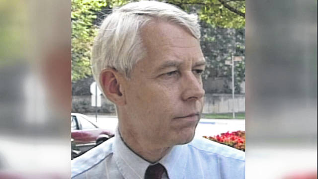 This 1992 image made from video provided by WBNS-TV, shows Dr. Richard Strauss. A report released on Friday, May 17, 2017, found that the now-dead Ohio State team doctor sexually abused at least 177 male students from the 1970s through the 1990s, and numerous university officials got wind of what was going on over the years but did little or nothing to stop him.