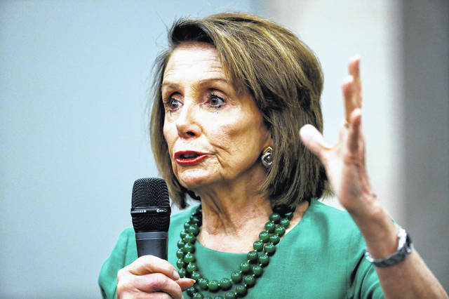 Speaker of the House Nancy Pelosi, D-Calif., speaks during a panel discussion at Delaware County Community College, Friday, May 24, 2019, in Media, Pa.