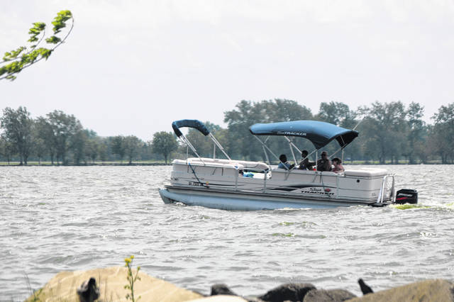 Many boats were seen out on the lake Saturday afternoon, with boaters enjoying warm temperatures and a holiday weekend. Last year was a great year for Grand Lake St. Marys.