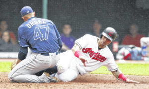 Loss to Rays drops Indians to .500