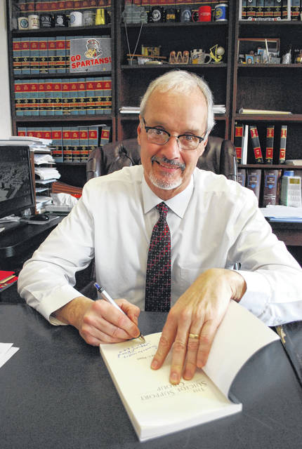 "Lifelong Lima resident Jeffrey Reed, who currently serves as a judge with Allen County Common Pleas Court, will hold book-signing events Wednesday, Saturday and June 8 in Lima to promote his recently-published book, ""The Suicide Support Group."""