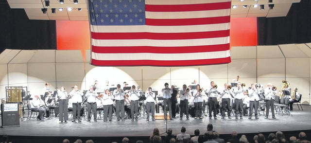 The Lima Area Concert Band often performs patriotic-themed songs similar to this performance last season.