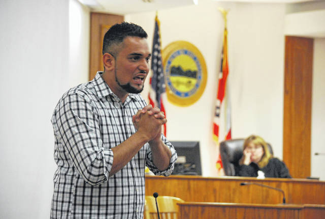 Aadhar Nepal, 29, of Lima, was sentenced Thursday to 30 months in prison for driving drunk and seriously injuring a Delphos man last year. Prior to being sentenced, Nepal turned to the family of Todd Elwer and asked for their forgiveness.