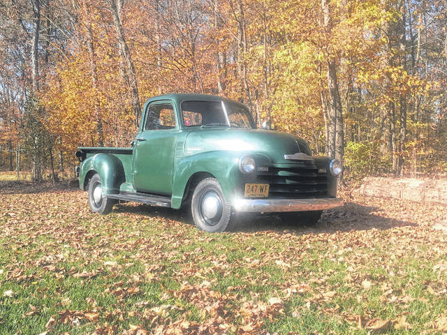 "This 1950 Chevy 3100 pickup has been in the family of Robert Guy, of Landeck, since his grandfather Robert ""Bob"" Chapman purchased it new on July 31, 1950, for $1,175 from Minnick Chevrolet in Lima."