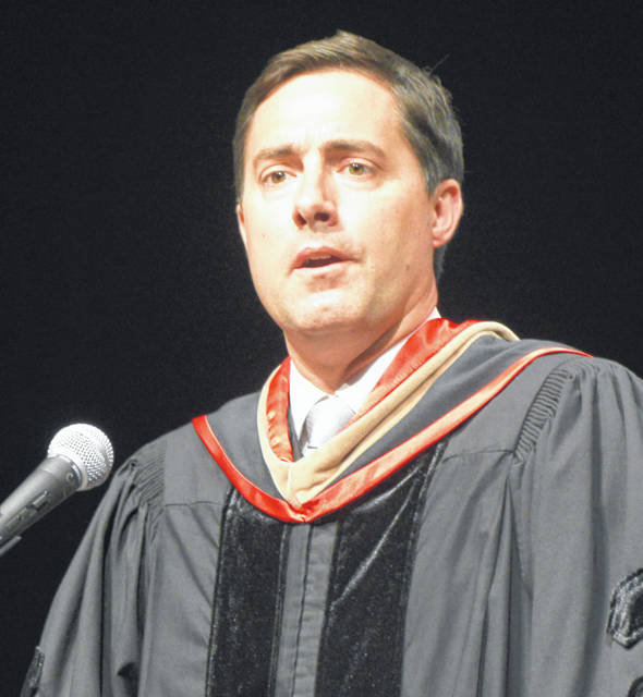 Ohio Secretary of State Frank LaRose addressed graduates of Rhodes State College during its graduation ceremonies Saturday at the Veterans Memorial Civic Center.