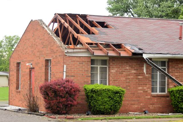 The Pentecostal Way Church of Van Wert was one of the buildings that sustained damage from Thursday morning's storms.