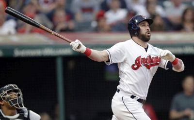 The Indians' Jason Kipnis hits a three-run home run during Thursday night's game against Baltimore in Cleveland. (AP photo)