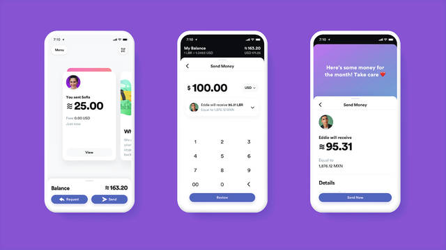 This image provided by Calibra shows what its digital wallet app might look like. Facebook formed the Calibra subsidiary to create a new digital currency similar to Bitcoin for global use, one that could drive more e-commerce on its services and boost ads on its platforms. Facebook unveiled the ambitious plan Tuesday.