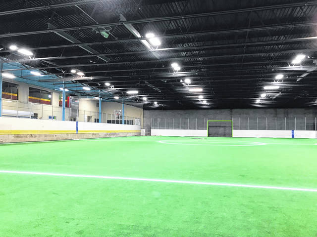 The main floor is dedicated to an indoor field. Skinner said the field is ideal for indoor soccer, kickball or softball games.
