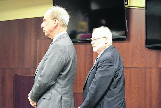 Dr. James Gideon, right, stands next to his attorney, Dennis Belli, as he was found guilty in April 2018. This week, an appeals court reversed that conviction.