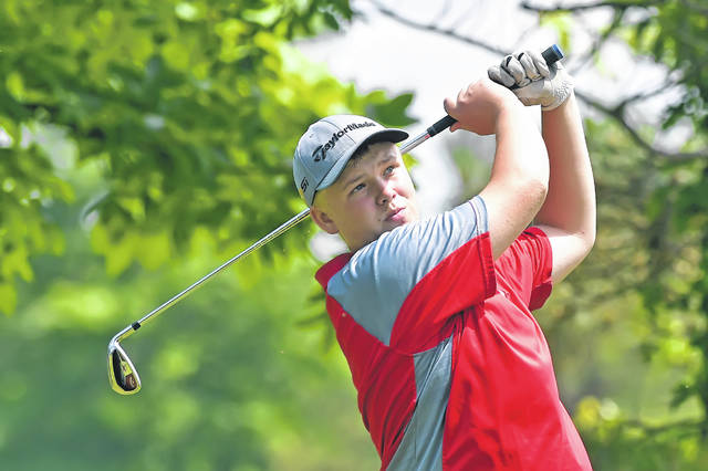 Zach Stechschulte competes last week in the Cappie Sportswear Open at Springbrook Golf Club as part of the Lima Junior Golf Association's McDonald's Junior Series.