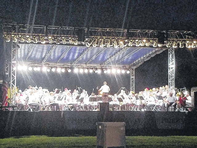 The Lima Area Concer Band performs at last year's Star Spangled Spectacular.