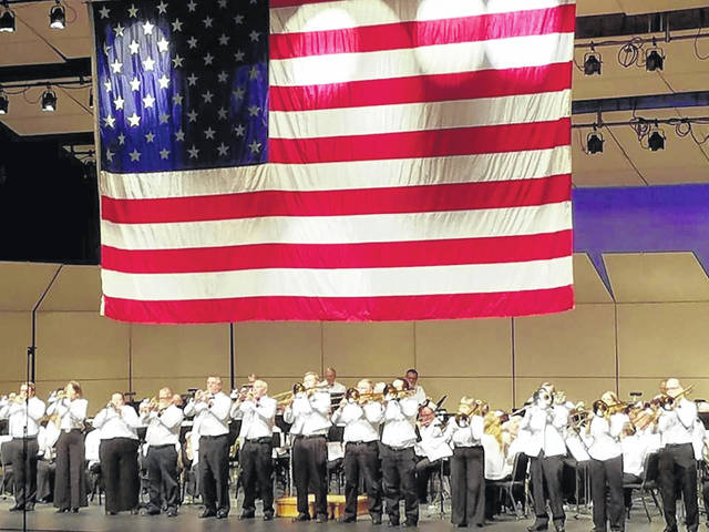 The Lima Area Concert Band performs a traditional patriotic march during last year's season.