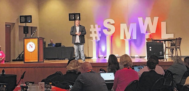 Speaker Jeff Howell shares his advice for brands seeking to be more vulnerable in their social media marketing strategies. Mackenzi Klemann | Lima News.