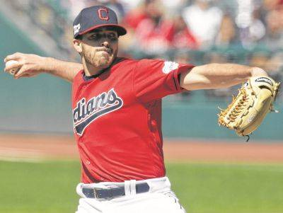 Indians pitcher Aaron Civale allowed no earned runs, two infield hits while striking out six in a six-inning outing Saturday against Detroit in Cleveland. (AP photo)