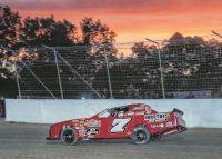 Jordan Conover races into the sunset Friday to capture the Keysor Memorial at Limaland. Mike Campbell photo