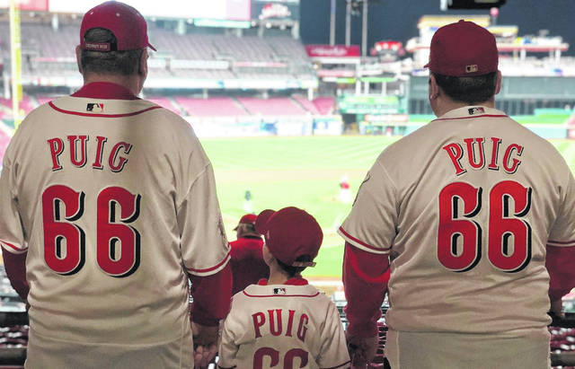 Kevin Huber, his son, Jon, and grandson Wyatt went to a May 4 baseball game, the first game ever for Wyatt.