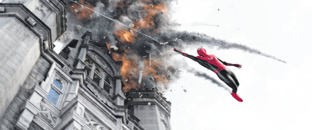 "This image released by Sony Pictures shows a scene from ""Spider-Man: Far From Home."""