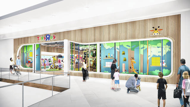 "This undated artist rendering provided by Toys""R""Us shows an artist rendering of a new store, which will be about 6,500 square feet — a fraction of the brand's former big box stores, which were about 30,000 square feet. Richard Barry, a former Toys R Us executive and now CEO of the new company called Tru Kids Brands, said the company has entered a partnership with a startup called b8Ta, an experiential retailer to launch what Barry calls an interactive store experience based on a consignment model. Toy makers will pay for space in the stores but will get all the sales."