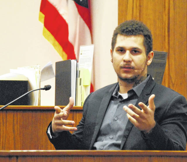 Lima resident Domminic Potts took the witness stand in his own defense Tuesday during his one-day trial in Allen County Common Pleas Court. Potts, charged with felonious assault for allegedly firing a handgun at another Lima man earlier this year, claimed he was the victim of the shooting and not the assailant. Jurors in the case accepted his version of the events.