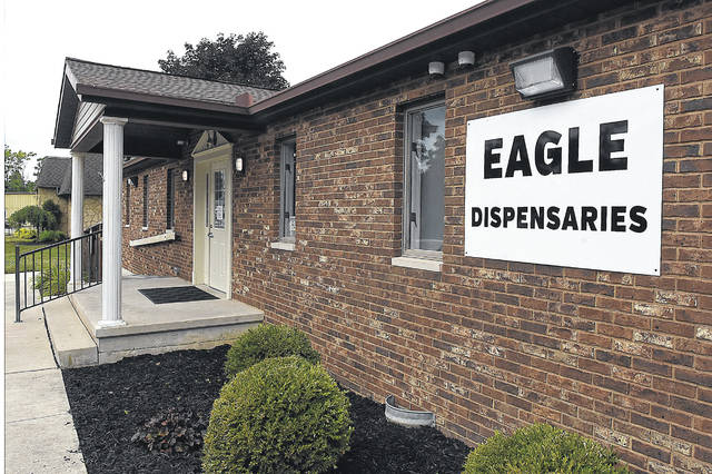 Eagle Dispensaries, located at 502 N. Dixie Highway, Wapakoneta, is open to people with a state-issued medical marijuana patient ID verifying they meet one of Ohio's 21 qualifying conditions. A state-certified physician must issue that ID.