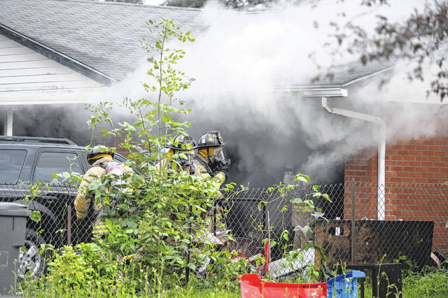 The Lima Fire Department responded to a house fire at 1121 Biscayne Drive around 5:45 p.m. Monday evening. The fire is under investigation.