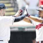 Lindor hits foul ball that injures child; Indians top KC 5-4