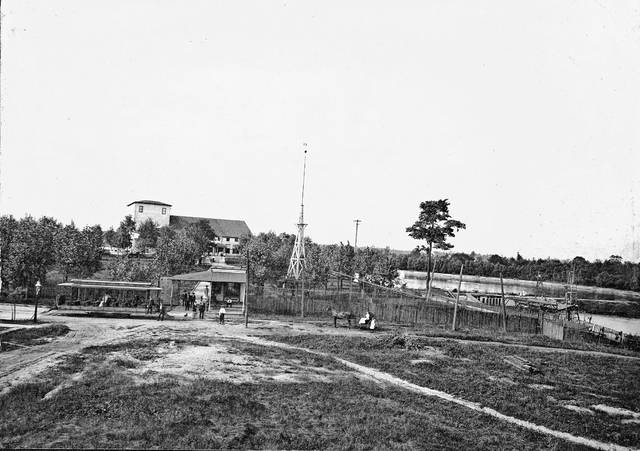 McCullough Lake Park, photographed in 1900. The park is today's Schoonover Park. Independence Day brought out daredevil exhibitions at Lima-area parks in this era, some displays ending quite badly.