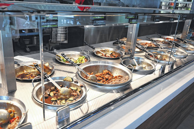A variety of Chinese-inspired dishes are readily available for pickup at Panda Express, which opened in December on Lima's Elida Road.